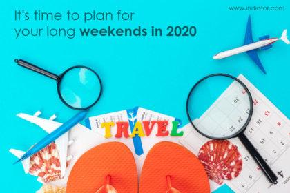 plan long weekends in 2020