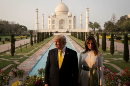 Trump shared pictures of their trip to Taj Mahal